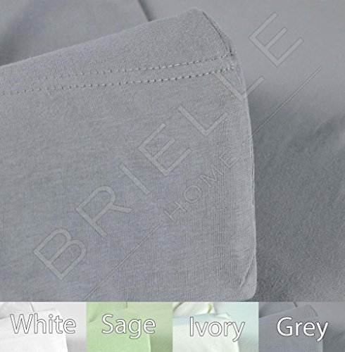 Brielle Cotton Jersey Knit (T-Shirt) Sheet Set, King, Grey