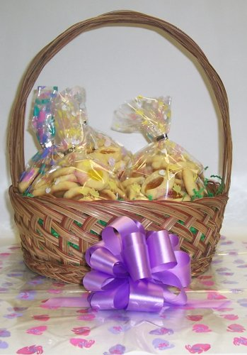 Butter Cookie Lovers Basket with Handle Bunny Hop Wrapping ()
