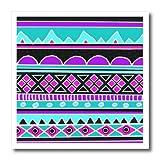 3dRose ht_112831_3 Bright Tribal Pattern 80S Aztec