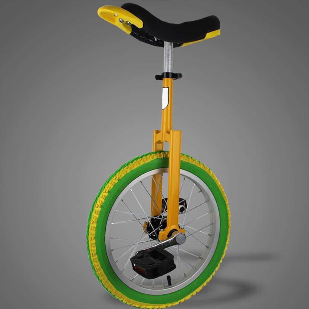 DC les Einräder Schubkarre, 16-Zoll   18-Zoll   20-Zoll   24-Zoll-Kindersport für Erwachsene, Akrobatik, einzelnes Fitness-Balance-Fahrrad (3 Farboptionen) (Farbe   C, größe   16 inch)