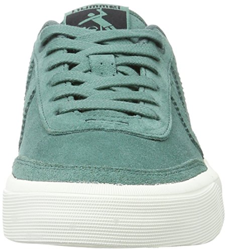 Hummel Damen Stockholm Suede Low Sneaker Grün (SEA Pine)