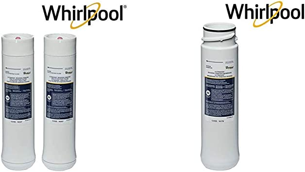1 Set 1 Filter /& WHEEDF Dual Stage Replacement Pre//Post Water Filters Whirlpool WHEERM Reverse Osmosis Replacement Membrane /& WHER25 Filtration Systems Pack of 2 Grey