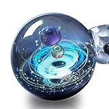 Pavaruni Galaxy Pendant Necklace, Universe Glass Jewelry, Space Cosmos Design,Birthday