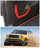 FMtoppeak Red ABS Accessories Decoration Rear Trunk Storage Bag Net Frame Trim Cover For 2014 UP Jeep Renegade