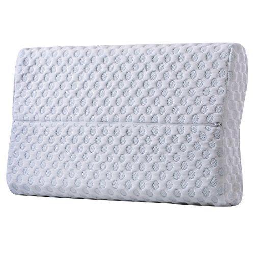 cr sleep memory foam contour pillow for neck pain gel