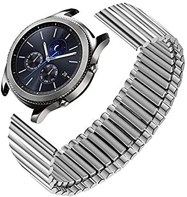 Gear S2 Classic Bands,Stainless Elastic Watch Band 20mm for Samsung Galaxy Watch 42mm/Gear Sport Bands Stainless Steel Stretch Watchband Gear S2 ...