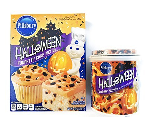 HALLOWEEN PILLSBURY FUNFETTI CAKE MIX AND Halloween FUNFETTI VANILLA FROSTING by (Pillsbury Halloween Funfetti Frosting)