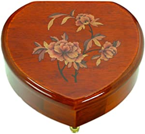 Musicbox Kingdom Heart Shaped Jewelry Box with The Melody Magic Flute Decorative Item