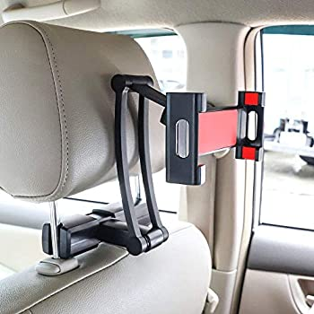 Universal Car Headrest Mount Holder,Tablet Holder For Car,Tablet Headrest Mount,Car Seat Mount,Backseat Holder with 360 Degree Rotation- for Apple iPad, ...