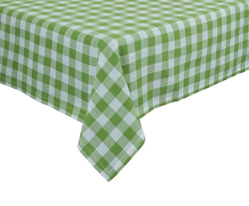 Xia Home Fashions Gingham Check Tablecloth, 65 by 108-Inc...
