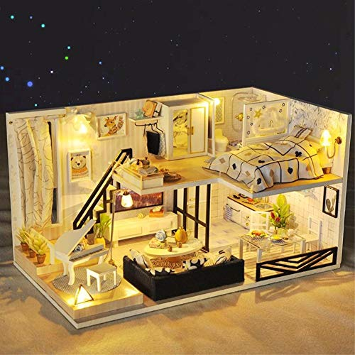 Magic House(매직 하우스)Shadow Of Time 돌하우스 미니어쳐 LED와 오르골 부속 방진 케이스 첨부속 수작업 키트 세트