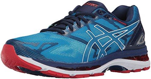 ASICS Men's Gel-Nimbus 19 Running Shoe, Diva Blue/White/Indigo Blue, 10 Medium US by ASICS