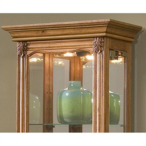 Beaumont Lane Display Cabinet in Estate Oak