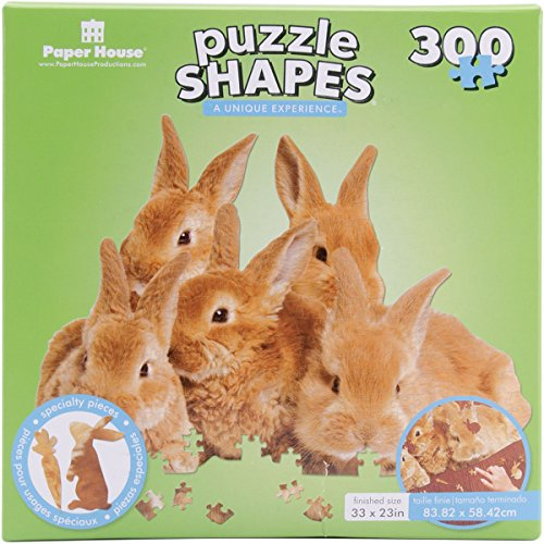 Paper House Jigsaw Shaped Puzzle (300-Piece), 23 x 32
