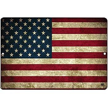 a061aa9cb424 Rogue River Tactical USA American Flag Metal Tin Sign Wall Decor Man Cave  Bar US United States Rustic