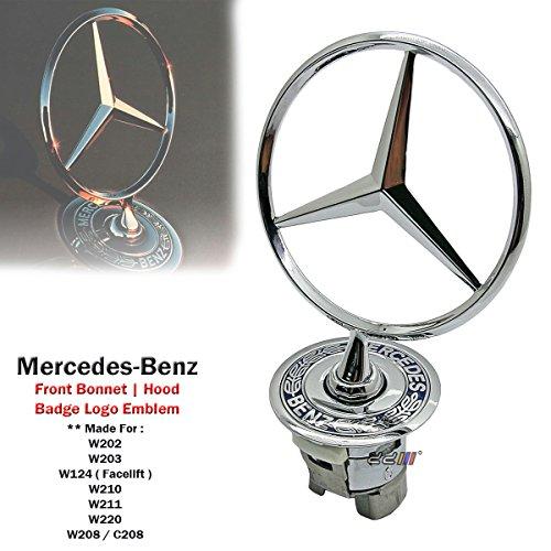 1 x Bonnet Hood Spring Logo Emblem For Mercedes Benz W124 W202 W203 W208 W210 W220