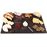 4 Sizes to Choose: Extra Large Stone Age Slate cheese boards (14'x20' Serving Platter) with Soap Stone Chalk