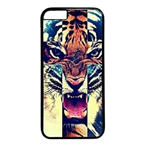 good case Diy Flexible iphone 5 5s PC Black 19H2zesxnaM case cover with Cool Style Image with Roaring Tiger
