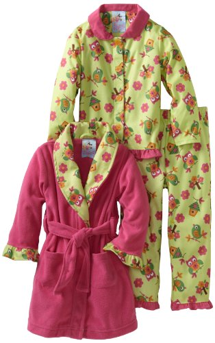 Baby Bunz Little Girls'  Birdies 3 Piece  Pajama Set