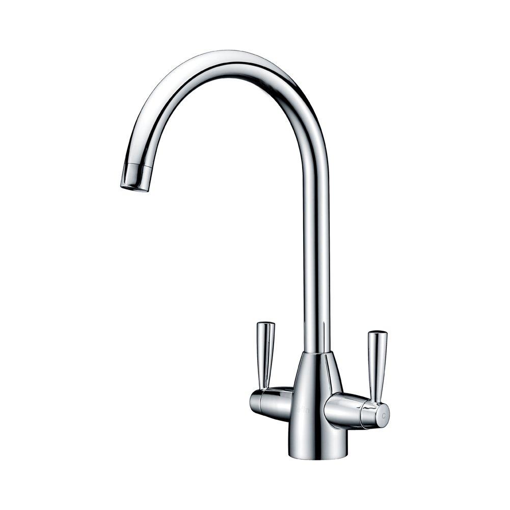 NEW CSH EFSNK C Cashew Easyfit Kitchen Sink Mixer Tap With Swivel Spout Chrome