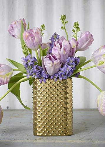Floral Home Gold Hobnail Ceramic Pocket Vase - 6