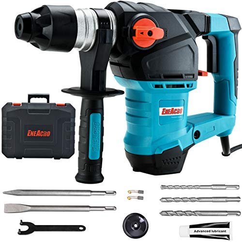 Great Deal! ENEACRO 1-1/4 Inch SDS-Plus 12.5 Amp Heavy Duty Rotary Hammer Drill, Safety Clutch 3 Fun...