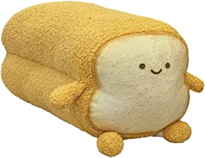 DENTRUN Toast Sliced Bread Pillow,Bread Shape Plush Pillow,Facial Expression Soft Toast Bread Food Sofa Cushion Stuffed Doll Toy for Kids Adults Gift Home Bed Room Decor (Sunday/Monday S-XL)