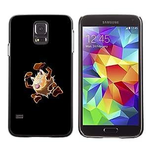 A-type Arte & diseño plástico duro Fundas Cover Cubre Hard Case Cover para Samsung Galaxy S5 (Meter Monster Marrón)