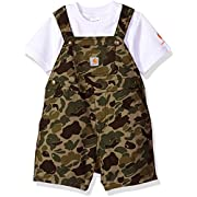Carhartt Baby Boys 2 Piece Set, Green Camo, 9M