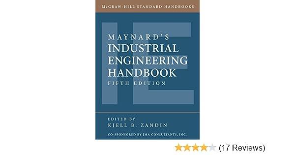 9780070411029: maynard's industrial engineering handbook.