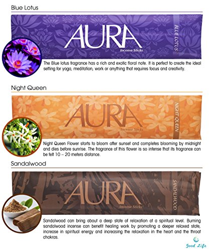 Premium Incense Sticks -10 Incenses 200 Sticks, Each Stick Burns for 60 mins or more, Truly Unique Inscents Variety Gift Pack