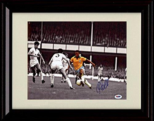 Framed Pele Autograph Replica Print - Spotlight - Team Brazil - World Cup by Framed Print - Soccer