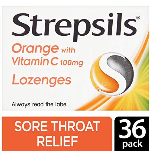 (Strepsils Orange with Vitamin C 100mg 36 Lozenges)