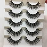 GreatFun 1 Box Luxury 3D False Lashes Fluffy Strip Eyelashes Long Natural Party Club