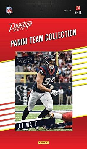 Houston Texans 2017 Prestige NFL Football factory sealed 9 card team set including J.J. Watt, DeAndre Hopkins, Deshaun Watson Rookie Card plus