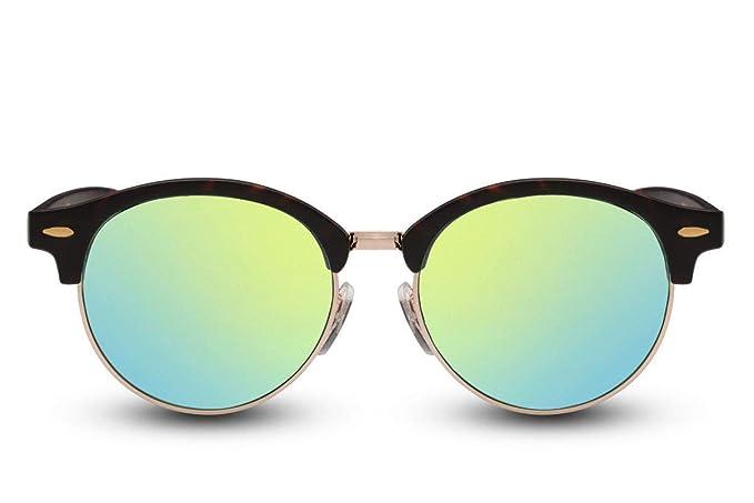 d9e2f2357eeea7 Cheapass Sonnenbrille Rund Braun Schwarz Verspiegelt UV400 Vintage Damen  Herren