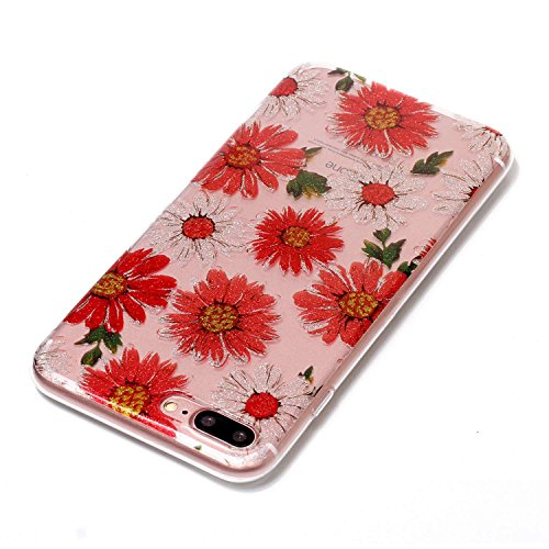 Hülle iPhone 7 Plus / iPhone 8 Plus , LH Gänseblümchen TPU Weich Muschel Tasche Schutzhülle Silikon Handyhülle Schale Cover Case Gehäuse für Apple iPhone 7 Plus / iPhone 8 Plus 5.5""