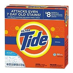 Tide PGC 84997 HE Laundry Detergent, Original Scent, Powder, 95 oz. Box (Pack of 3)
