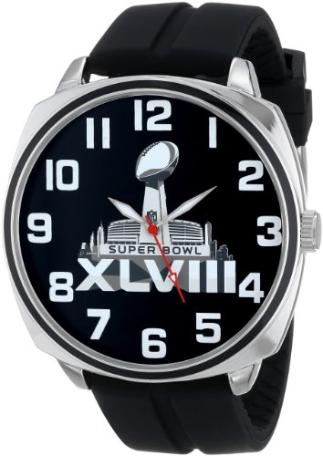 Game Time Mens Nfl Super Bowl Xlv111 Official Watchblack Watch   Super Bowl Edition