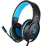 Gaming Headset for Xbox One, PS4, PC Lightweight Noise Cancelling Gaming Headphones with Flexible Mic for Nintendo Switch Mac Laptop iPad Smartphone