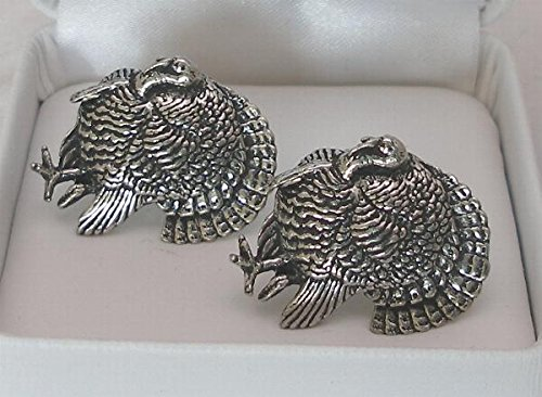 Trapper Turkey - Turkey Pewter Cuff Connectors – Gift Boxed
