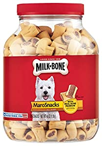 Milk-Bone MaroSnacks combine the crunchy texture of a biscuit with the delicious taste of real bone marrow. Prepared with care by the makers of Milk-Bone dog snacks, these tasty treats will give your dog the simple, genuine joy that your dog gives yo...