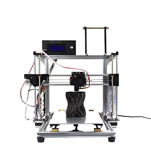 """HICTOP Filament Monitor Design Auto Leveling Desktop DIY 3D Printer Prusa I3 Kit Unassembled Parts Printing Size 10.6"""" x 7.9"""" x 7.7"""" with LCD【Filament Not included】(White) HIC Technology Printers"""