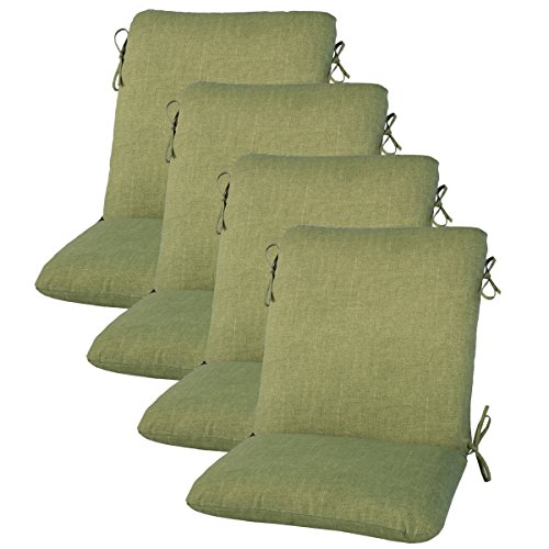 Amazon Com Set Of 4 Outdoor Dining Chair Cushion 20 X 38 X 3 In