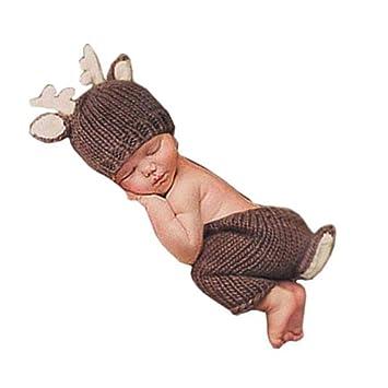 Newborn Photography Props Bonnet Christmas Set Outfits Pants Hat Clothes Props