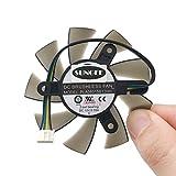 75mm PLA08015B12HH DC 12V 0.35A PWM 4pin 4wire 2 Ball Bearing GPU VGA Graphics Video Card GTX550Ti Cooling Fan
