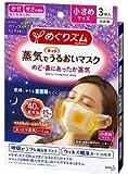 【まとめ買い】めぐりズム 蒸気でホットうるおいマスク ラベンダーミントの香り 小さめサイズ 3枚入×3
