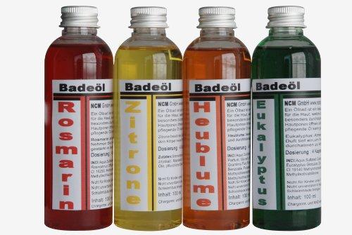 NCM Badeöl Erlebnisset 4 x 100 ml, 1er Pack (1 x 4 Stück)