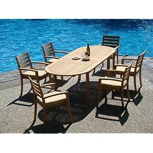 51-hlyn4T8L._SS300_ Teak Dining Tables & Teak Dining Sets