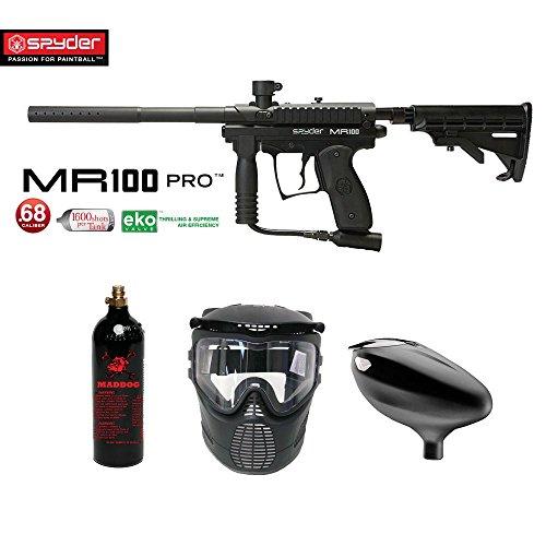 MAddog Spyder MR100 Pro Beginner CO2 Paintball Gun Package - (Semi Pro Paintball Gun)